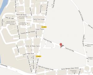 Mapa del lugar de encuentro
