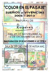 RUIPEREZ INVITACION EXPOSICION COLORES EN EL PAISAJE